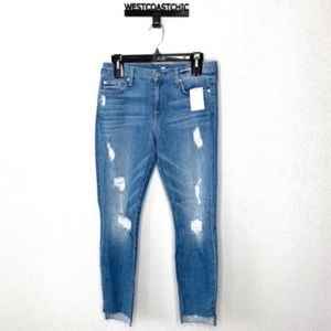 7 For All Mankind Distressed Step Hem Jeans
